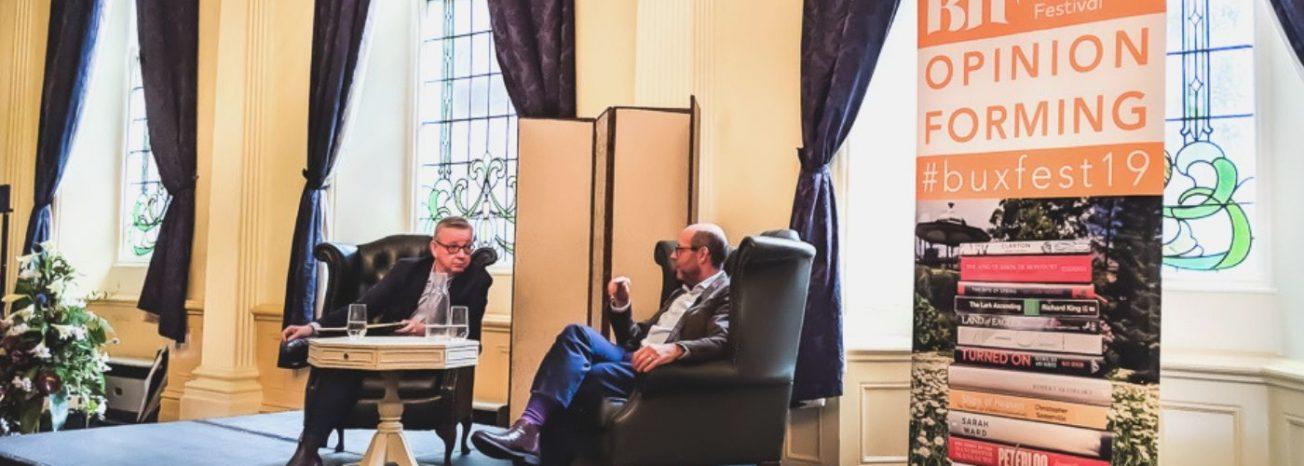 Michael Gove interviews Nick Robinson Buxton International Festival